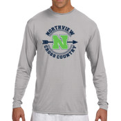 MED - N3165 A4 Long-Sleeve Cooling Performance Crew Neck T-Shirt