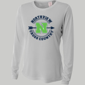 MED - NW3002 A4 Ladies' Long Sleeve Cooling Performance Crew Shirt